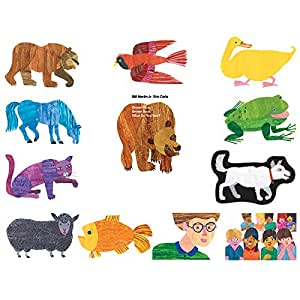 Little Folk Visuals Brown Bear Felt Figures for Flannel Board Stories