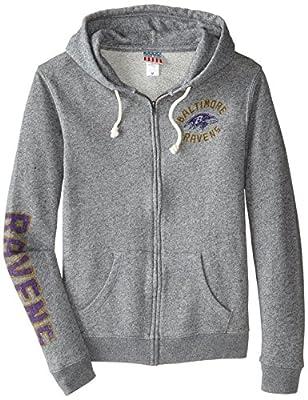 NFL Women's Full Zip Sunday Hoodie with Sleeve Name