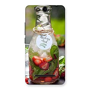 Strawberry and Basil Multicolor Back Case Cover for Micromax Canvas Juice 3 Q392