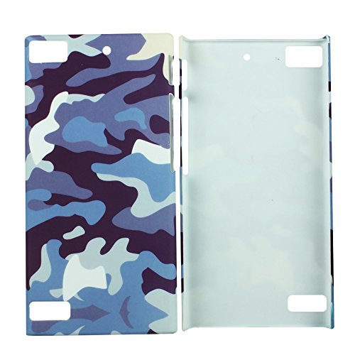 Heartly Army Style Retro Color Armor Hybrid Hard Bumper Back Case Cover For BlackBerry Z3 - Navy Blue