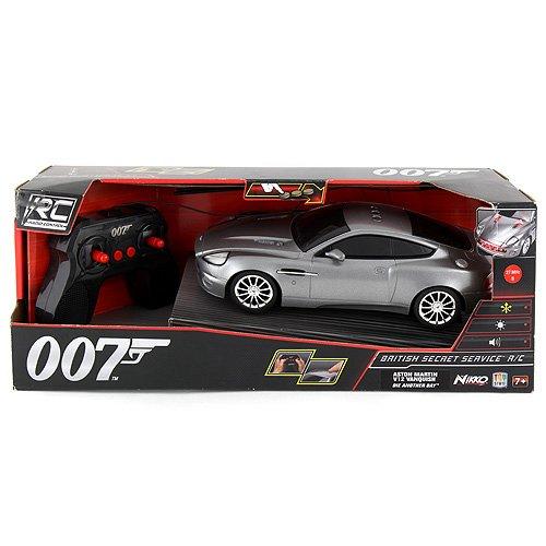 James Bond - Automobile radiocomandata Aston Martin con effetti luminosi e sonori e armi nascoste, ca. 26 cm, 50¡ anniversario, fillm: La morte pu attendere