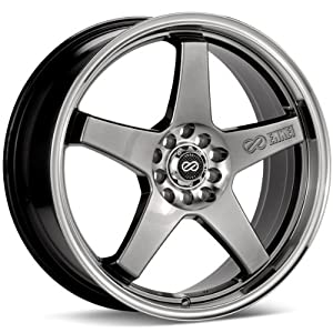 Enkei EV5, Performance Series Wheel, Hyper Black (17×7″ – 4×100 & 4×114.3, 38mm Offset) 1 Wheel/Rim