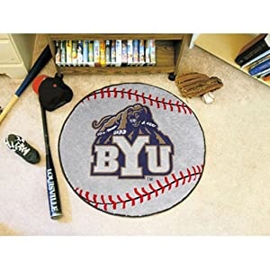 Brigham Young Cougars 29 Round Baseball Floor Mat (Rug) by Fanmats