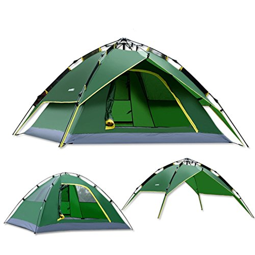 Red Dandelion 3-4 People Automatic Hydraulic Pressure Camping Fishing Double Layer Quality Tent