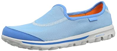 Skechers Women's GOrecovery,Blue/Orange,US 6 M