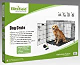 "EliteField 42"" 2-Door Folding Dog Crate 42"" Long X 28"" Wide X 30"" High"