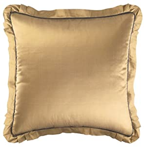 Croscill Home Fashions Sapphire European Sham, 26-Inch by 26-Inch, Bronze