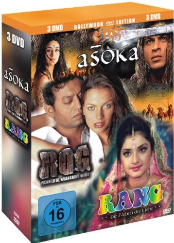 Bollywood Edition : Asoka The Great - Rog (Wenn Liebe krankhaft wird) - Rang (Die Farben der Liebe) - 3 DVD Box