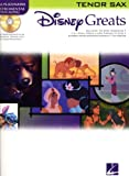 Hal Leonard Disney Greats for Tenor Sax Book/CD Instrumental Play-Along