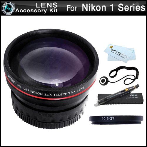 Vivitar Telephoto Lens Kit For Nikon 1 J1, Nikon 1 V1, Nikon 1 J2 Mirrorless Digital Camera(That Use 10-30Mm, 30-110Mm, 10Mm Lenses) Includes High Definition 2.2X Telephoto Lens + Lenspen Cleaning Kit + Lens Cap Keeper + Microfiber Cleaning Cloth