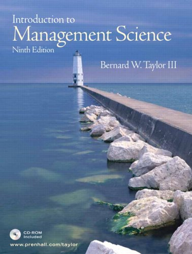 Introduction to Management Science, 9th Edition