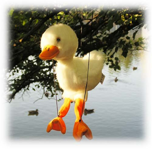 White Duckling Duck Marionette front-993286