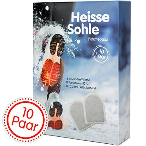Heisse Sohle Fußwärmer – 10 Paar Vorteilspack