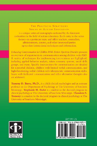 Enhancing Communication in Children with Autism Spectrum Disorders (The Practical Strategies Series in Autism Education)