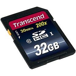 Transcend TS32GSDHC10 32GB Class 10 200x SDHC Memory Card