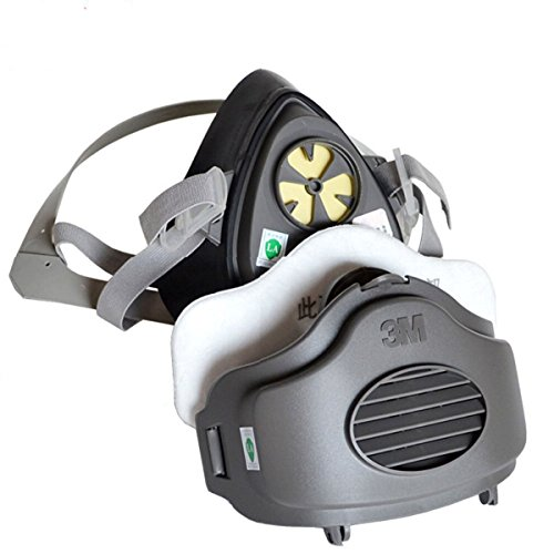 [Safety Respirator Dust Mask 3m 3200 N95 Pm2.5 Half Facepiece Reusable Respirator Gas Protection Filter Respirator Dust Mask with 10pcs] (Full Face Gas Mask Costume)