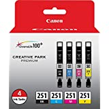 Canon CLI-251 - Black, Cyan, Magenta, Yellow (Pack of 4)