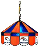 NFL Denver Broncos 16-Inch Diameter Stained Glass Pub Light at Amazon.com