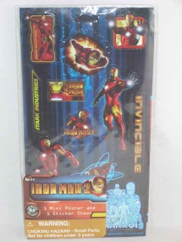 Iron Man 2 Mini Poster and Sticker Sheet - 1