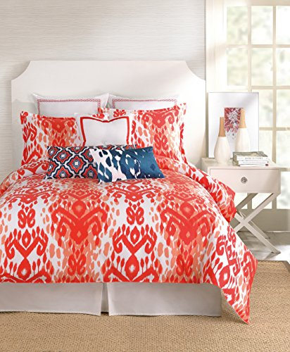 Trina Turk 2-Piece Mojave Ikat Duvet Set, Twin, Orange front-940970