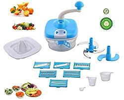 Jony 10_in_1_Blue Manual Food Processor (Blue) by A TO Z Sales-AZ5021