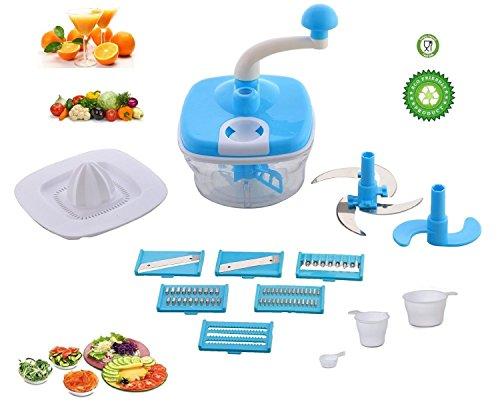 Jony 10_in_1_Blue Manual Food Processor (Blue) by A TO Z Sales-AZ5021