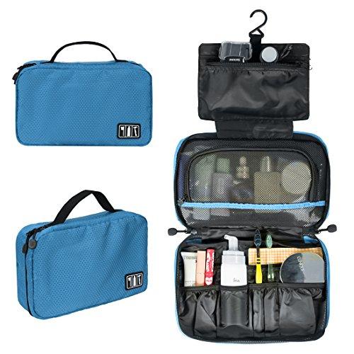 (バッグスマート)BAGSMART バスルームポーチ トラベルポーチ フック付き 洗面用具入れ 収納バッグ 小物整理 プレゼント ギフト