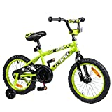 Tauki Kid Bike BMX Bike for Boys and Girls, 16 Inch, Lime, for 4-8 Years Old