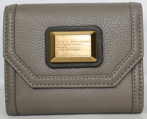 Marc Jacobs Saddlery Small French Purse Wallet Putty