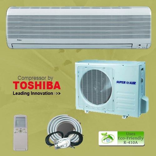 18000 1.5 Ton Btu Ductless Mini Split Air Conditioner Unit AC A/C System Heat Pump + Free Installation Kit