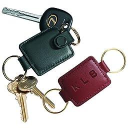 Royce Leather Valet Key Fob (Black)