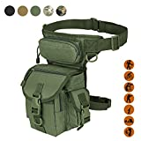 Military Tactical Drop Leg Bag Tool Fanny Thigh Pack Leg Rig Utility Pouch Paintball Airsoft Motorcycle Riding Thermite Versipack, Army Green