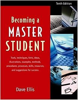 becoming a master student tenth edition david b ellis. Black Bedroom Furniture Sets. Home Design Ideas
