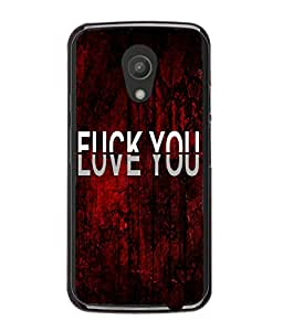 Fuson Love Red Pattern Back Case Cover for MOTOROLA MOTO G2 - D3703