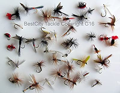 DRY FLY FISHING FLIES BEST UK x 40 TROUT ROD FLY Forty dry flies PACK#8 from BestCity