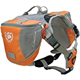 Mypet Outdoor Adjustable Dog Saddle Bag Large Capacity Dog Backpack with Reflective Stripe (Orange, Large)
