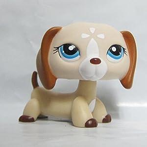 Littlest-Pet-Shop-Animals-LPS-Figure-Toy-1491-Tan-Cream-Dachshund-Dog-Puppy