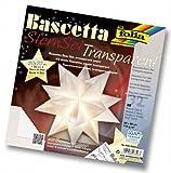 Folia 800/2020 - Bastel-Set Bascetta-Stern 20 x 20 cm 30 Blatt weiss