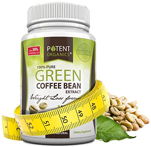 Potent Organics 100% Pure Green Coffee Bean Extract - Standardised to 50% Chlorogenic Acid - High GCA (patented extract). 60 Veg Caps (Leptin Green Coffee 800 compare prices)