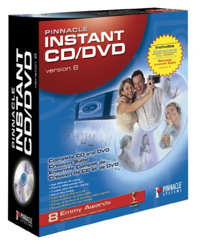 PINNACLE S INSTANT CD/DVD VERSION 8-CANADA ( 210100306 )
