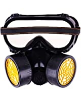 Industrial Chemical Gas Anti-Dust Spray Paint Dual Respirator Mask With Goggles By BuyinCoins