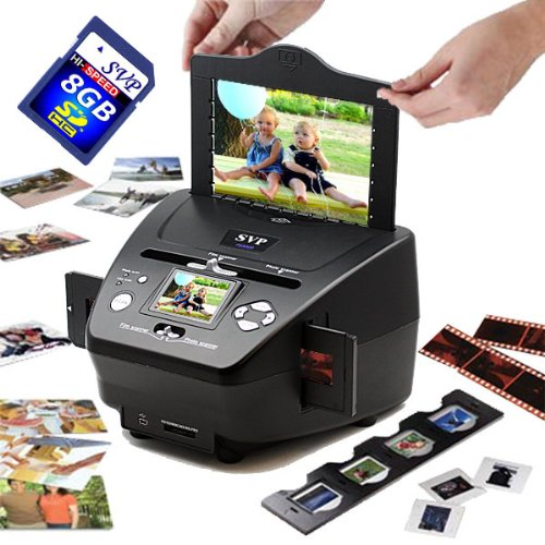 SVP PS9790 Black (with 8GB)3-in-1 Digital Photo/Negative Films/Slides Scanner with built-in 2.4