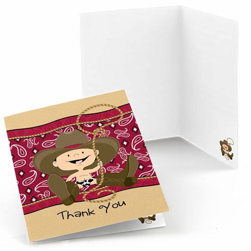 Little Cowboy Thank You Cards (8 count)