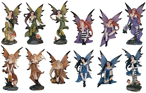 StealStreet Display Fairy Pixie Figurine Statue Collectible Decoration (Set of 12)