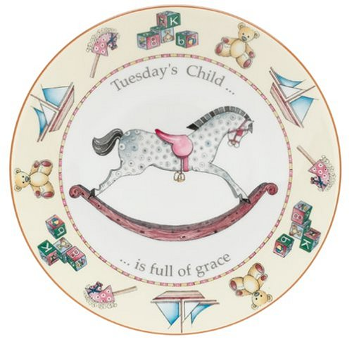 Buy Royal Worcester Days of the Week Earthenware 8-Inch Plate, Tuesday