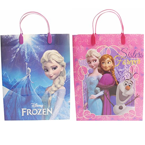 Disney Frozen Beautiful Party Favor Goodie Big Gift Bags (2 Bags) - 1