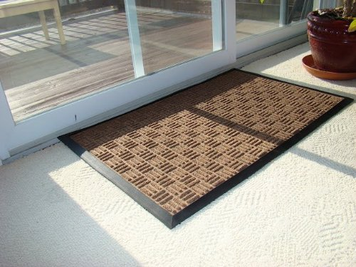 Kempf Water Retainer Mat, 2 by 3-Feet, Brown