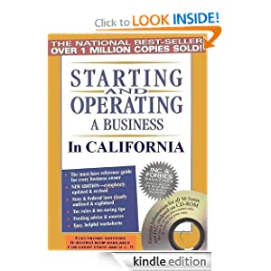 Starting and Operating a Business in California Starting and Operating a Business in the US eBook Michael D Jenkins