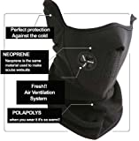 Neoprene Black Thermal Fleece Half Face Mask Facemask Snowboard Snowmobile Snow Ski Sled