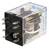 uxcell リレー  電子部品プラスチック製 クリア パワーリレー 自動制御システム HH52P DC 12Vのコイル8ピン